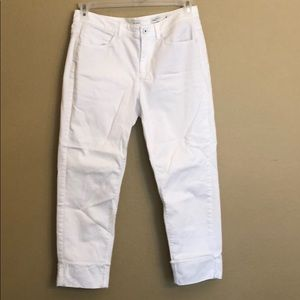 J. Jill Denim Authentic Fit Cropped White Jeans 8